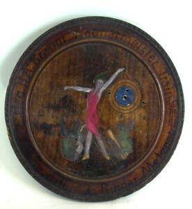witzige-Schuetzenscheibe-1932-Girl-mit-Schweinen-30-5cm