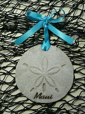 TURTLE Large Nesting Sea Turtle Made with Sand Tropical Beach Ornament