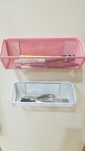 Mesh-Storage-Magnetic-Kitchen-Locker-Office-School-Makeup-Holder-Organizer-Caddy