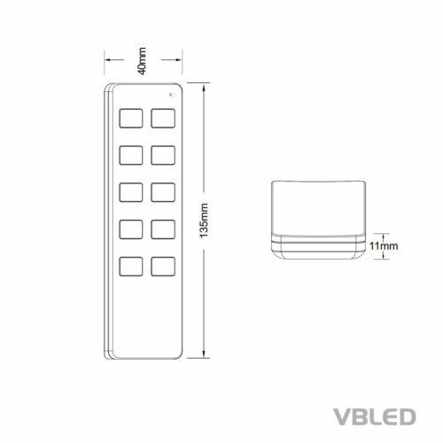 """10er-RF-Set 1W LED Mini-Einbauspot /""""Aldyne/"""" IP65 WW,Fernbedienung,12W Trafo IP20"""