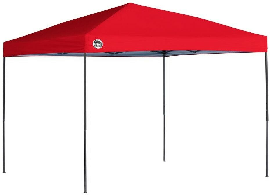 Canopy 10 ft. x 10 ft. Red Straight Leg Push Button Sliders with Padded Levers