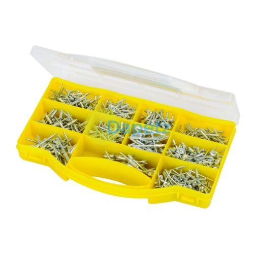 Rivets Pack Assorted Pop Rivets 650 Pce Piece Carry Storage Case