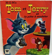 Tom et Jerry et la pâte à modeler VINTAGE WHITMAN FRENCH BOOK & rare collectible