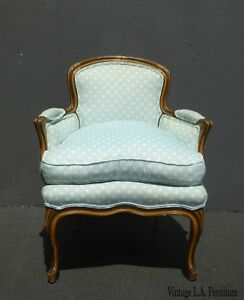 Image Is Loading Vintage French Provincial Baby Blue Accent Chair W