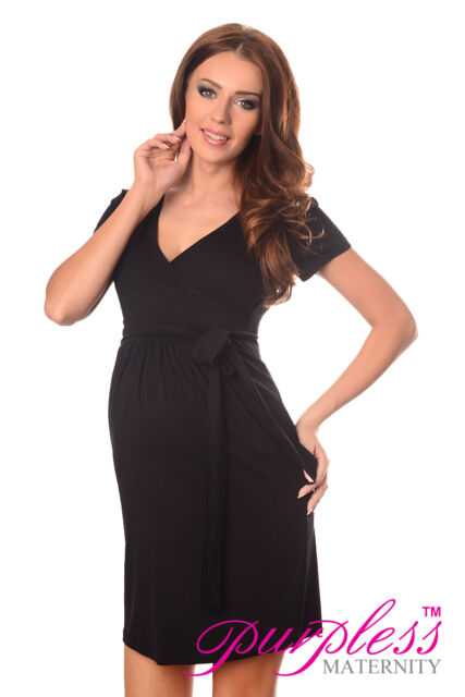f9f69aa0204 Maternity Cocktail Dress V-neck Pregnancy Clothing Wear Size 8 10 12 ...