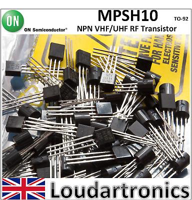 50PCS HF//VHF//UHF JFET Transistor Fairchild TO-92 MPF102
