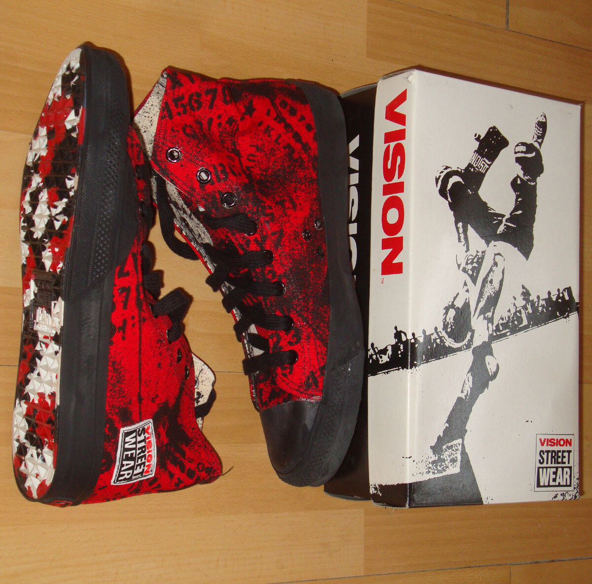 Vision Street Wear Skateboard Schuhe alphabarb 6 USA UK 7 USA 6 80s Jahre alte Schule ccac21