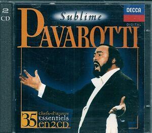 2-CDS-COMPIL-35-TITRES-LUCIANO-PAVAROTTI-SUBLIME-PAVAROTTI