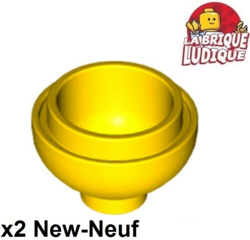 Lego 2x brique ronde brick round dome bas bottom 2x2 15395 jaune//yellow NEUF