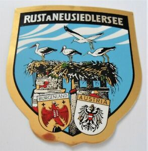 Souvenir-Aufkleber Rust At Neusiedlersea Storchs Nest Burgenland Austria
