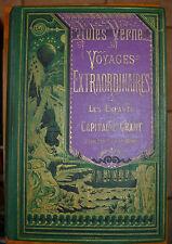Les Enfants du Capitaine Grant Jules Verne Hetzel  Bannière violet- verte