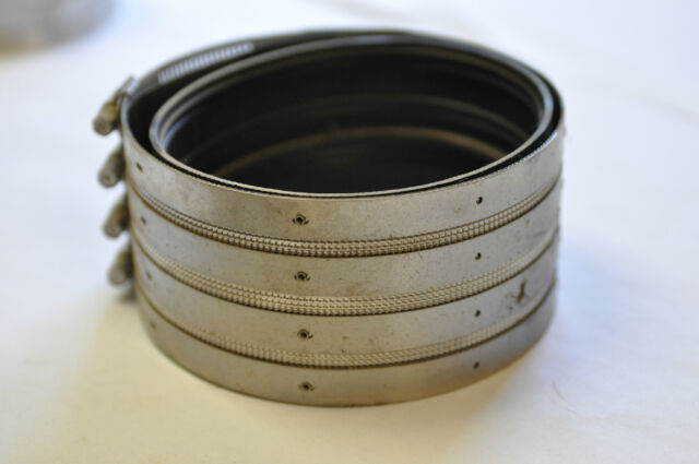 """Fernco Mission 5"""" Cast Iron Pipe No-Hub Coupling Stainless Steel Band FAST! J30"""