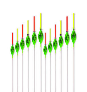 12 x Hand Made POLE FLOATS Rizov RF148-0.1//0.2//0.3//0.4//0.5//0.6g in NEW BOX