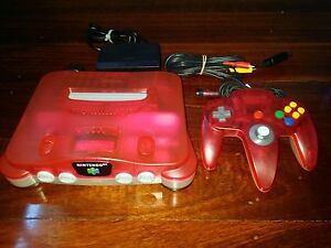 Nintendo-64-Console-PAL-Watermelon-Red-FULLY-TESTED-AUS-SELLER