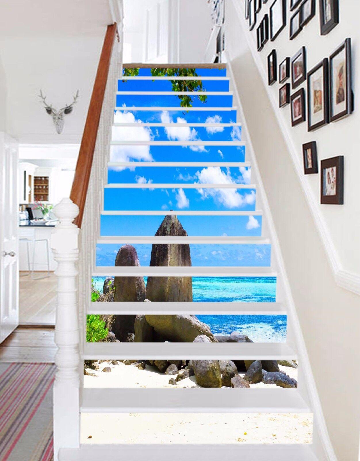 3D Sky  Stone  5074 Stair Risers Decoration Photo Mural Vinyl Decal Wallpaper AU