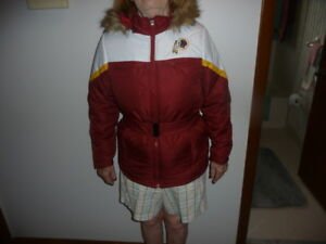 newest 82333 af1e1 Details about WASHINGTON REDSKINS WOMENS LADIES NFL HEAVY JACKET SIZE S  WITH TAGS