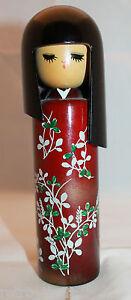 Japan Sosaku Creative  Wooden Kokeshi Doll Girl No sign 19cm 7.5inch Tall  AS-IS