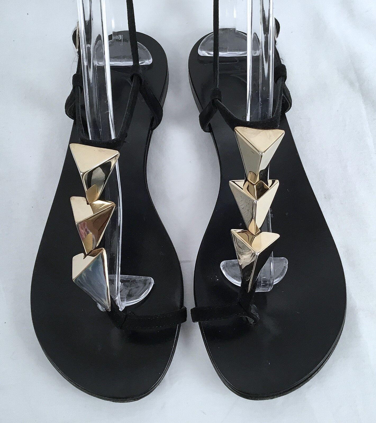 Giuseppe Zanotti-Triangle Zanotti-Triangle Zanotti-Triangle Stud Flat Thong Sandal-Size-US 7.5 37.5 EU-  650-(P27) f0365f