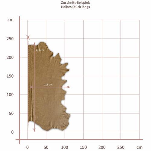 color marrón claro 1,4 mm gedecktes cuero grosor aprox De Búfalo