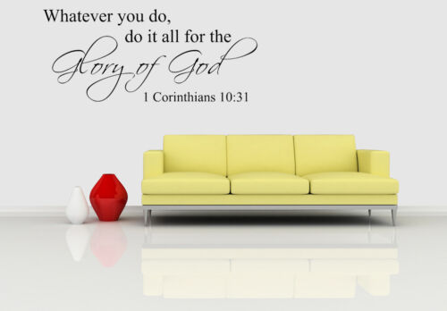 Bible Verse Vinyl Wall Decals,Christ Quote Word Sticker,Inspiration Art for Home