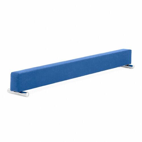 bluee Gymnastics Large 180cm Balance Beam 6FT Suede Home Gym Training Balancing