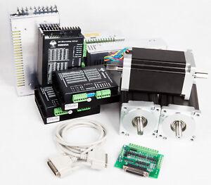 3 Axis Nema 23 stepper motor 270 oz.in dual shaft/&3-axis board TB6560 CNC Router