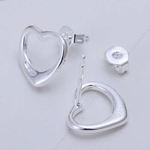 mit Sterlingsilber DO099 T::A Paar Damen Ohrring Ohrhänger Herz Ohrstecker pl
