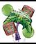 Kiwi Tiki Time Balloon Bouquet Luau Hawaiian Summer Beach Party Decoration ~ 5pc