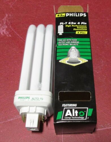 Philips Compact Fluorescent 42 watt PL-T 4 pin high performance bulb New in box