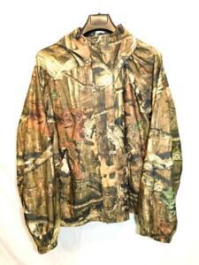 Herter-039-s-2X-Break-Up-Infinity-Camo-Jacket-Quiet-Fleece-Full-Zip-Hood-Coat-Hunt