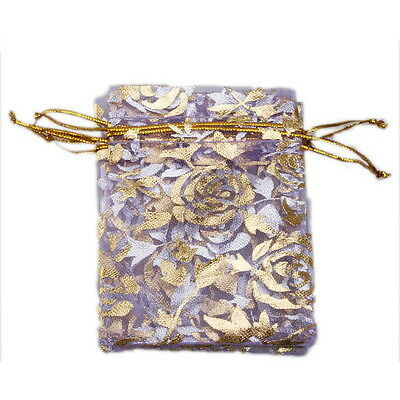 250 Purple Organza Pouch Gift Bags Wedding 7*9cm 120076