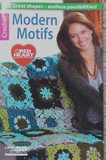Leisure Arts MODERN MOTIFS Red Heart crochet afghan pattern book
