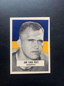 1959 Wheaties CFL Jim Van Pelt Winnipeg Bluebombers