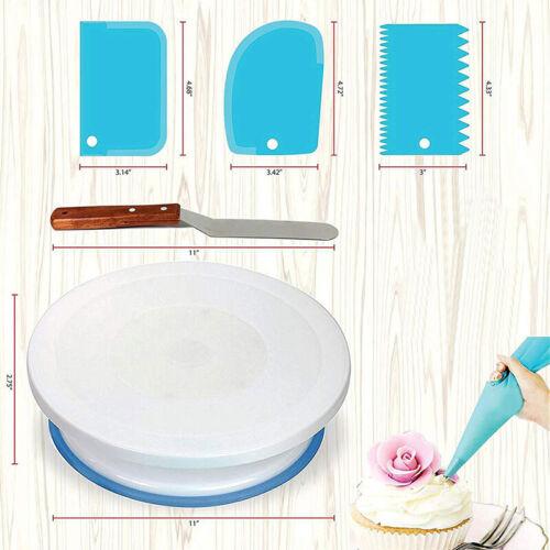 Rotation Turntable Cake Decorating Tool Set Kit Bags Pastry Bag Baking Supplies