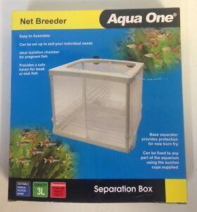 2 x aquarium fish net breeding tank 15 x 14 aqua one net for Fish breeding net