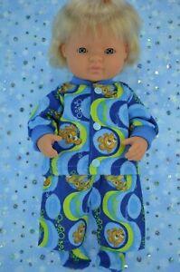 Dolls-Clothes-For-Boy-38cm-Miniland-Doll-PJ-039-S-FLANNELETTE-PANTS-TOP-BOOTES