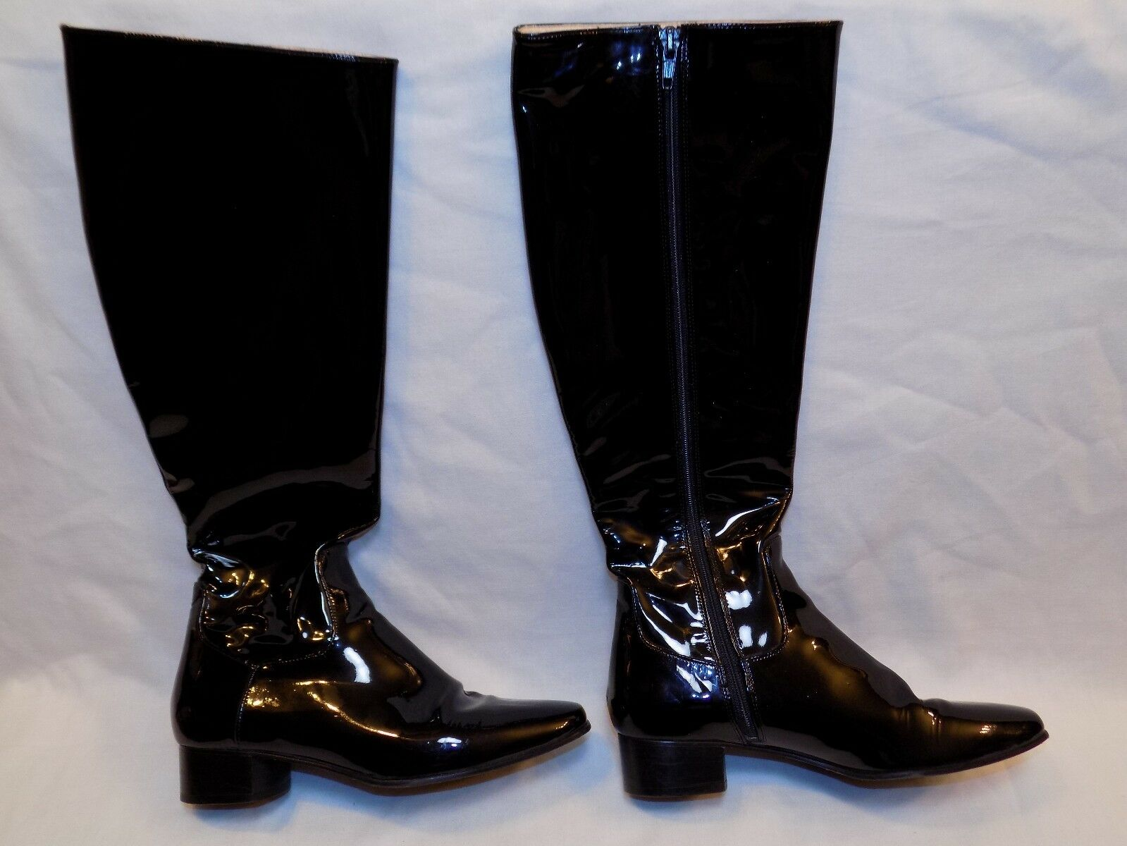 5.5 B Cole Haan Ladies Womens Black Patent Leather Boots shoes Tall Knee High M