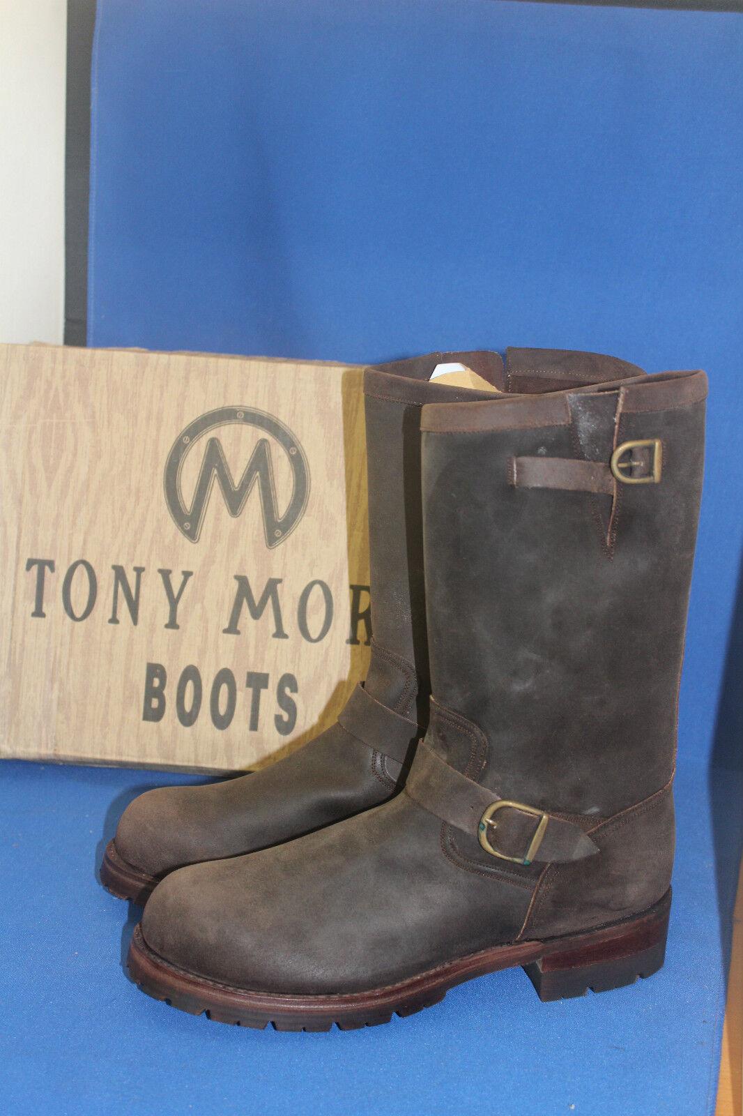 Tony mora botas botas motorista engineer Western botas vaqueras botas talla. 42 nuevo