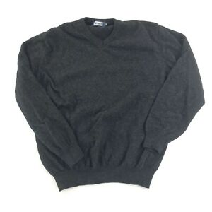 Austin Reed Mens Xl Sweater Black Wool Blend V Neck Pullover Long Sleeve Ebay