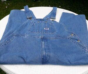 Big-Smith-Vintage-Overalls-Blue-Denim-Bib-Carpenter-Work-Wear-Rockabilly-46-x-27