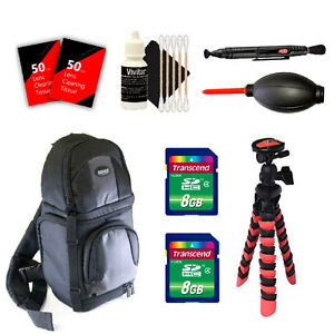BackPack + 16GB Accessory Kit for For Canon T6 T6i and All Canon Digital Cameras