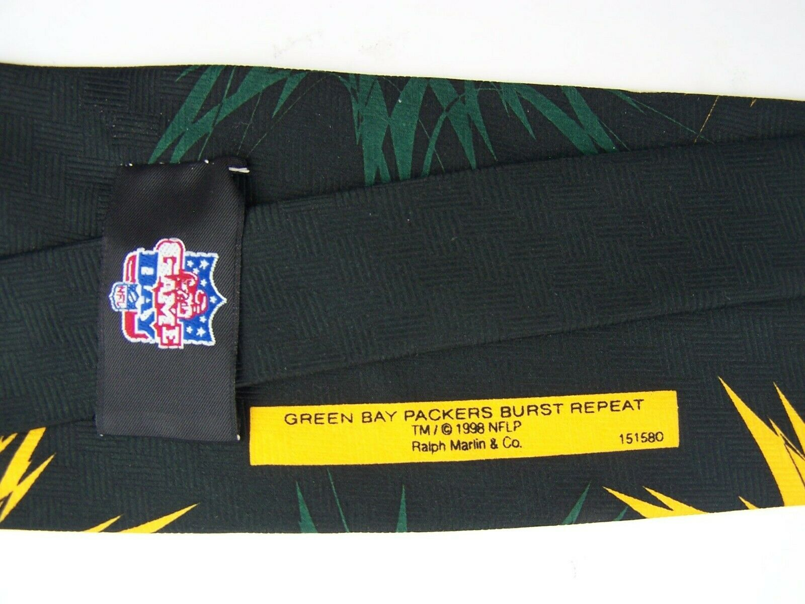 Green Bay Packers Neck Tie Burst Repeat 1998 Ralph Marl