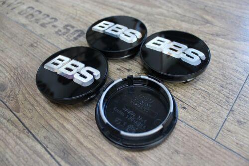 Original BBS Emblem 70mm Nabenkappe Schwarz Silber 09.24.494 Felgendeckel