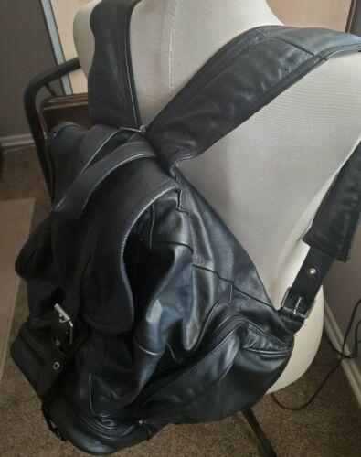 'Best' Men's Vintage Leather Backpack Shoulder Tra