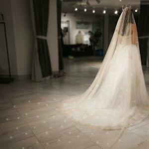 Women-Mesh-Ultra-Long-Trailing-Cathedral-Wedding-Veil-Shimmer-Bridal-Accessories