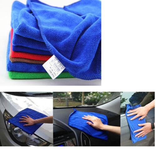 5 PCS Home// Car Wash Towels Microfiber Polishing Waxing Washing Cleaning Cloths