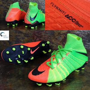 Nike-Junior-hympervenom-Phantom-3-FG-ACC-Flyknit-UK-4-Eu36-5-882087-308-Haut-Spec