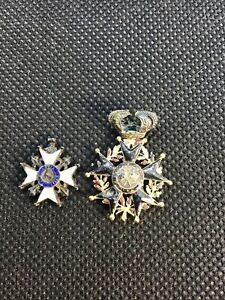 Lot-medaille-Or-et-argent-Ordre-militaire-du-Lys-et-legion-d-honneur-Order