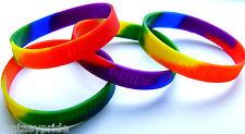 Gay Pride Rainbow Silicone PRIDE Bracelet - NEW