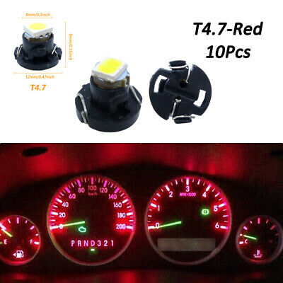 10pcs White T4 T4.2 Neo Wedge 1-SMD LED Cluster Instrument Dash Climate Bulb